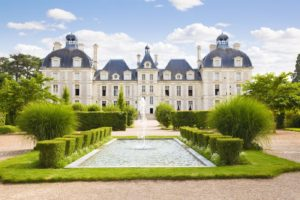 Cheverny Chateau. View from apprentice's garden, France