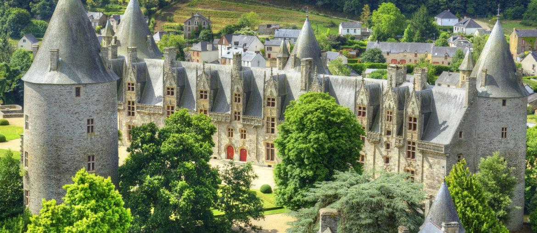 château de Josselin depuis la Basilique Notre-Dame de Roncier à Josselin